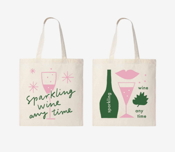 Sparkling Wine Anytime: Totebags