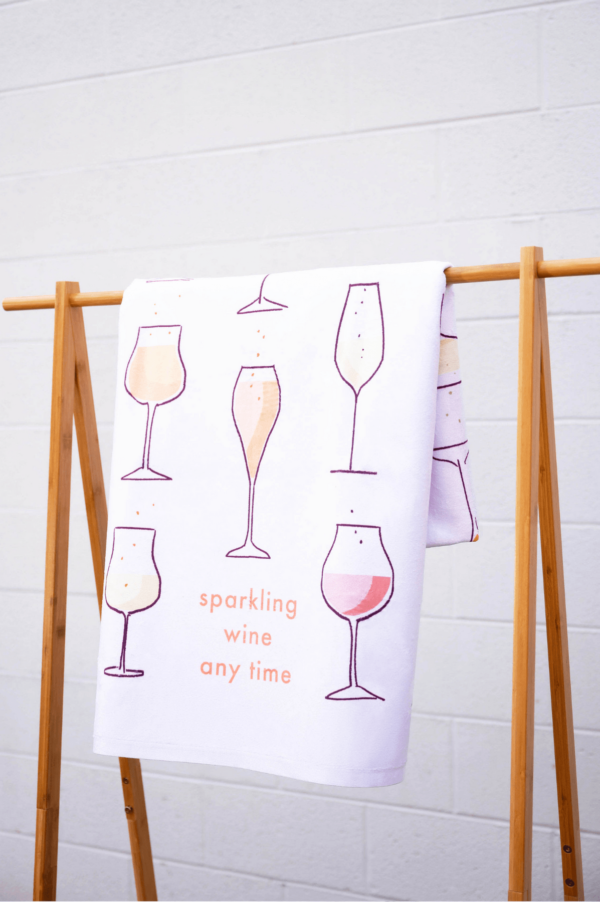 Sparkling Wine Anytime Towel